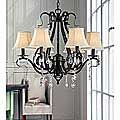Wrought Iron and Crystal 5-light Chandelier - Free Shipping Today - Overstock.com - 11387594 - Mobile