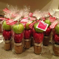 Salted Caramel dip with apples...This is so great and tasty gift idea for Christmas...      http://www.2reciipes.blogspot.com/2015/12/homemade-caramel-sauce.html