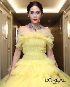 Araya A. Chompoo Araya, Yellow Dress, Cannes, Frocks, Red Carpet, Wedding Gowns, Ball Gowns, Classy, Formal Dresses