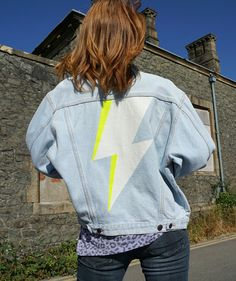 Starman reworked vintage denim jacket 2019 lightening bolt custom denim jacket me 1 The post Starman reworked vintage denim jacket 2019 appeared first on Denim Diy. Customised Denim Jacket, Custom Denim Jackets, Painted Denim Jacket, Denim Paint, Denim Fashion, Fashion Models, Modest Fashion, Fashion Fashion, Estilo Jeans