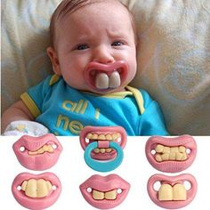 Chupete dentadura http://www.milideaspararegalar.es/producto/chupete-dentadura/