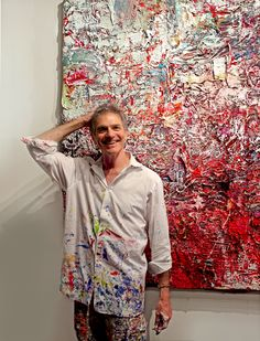 Adam Cohen Studio NY abstract painter Adam Cohen Artist Abstract painting, gestural abstraction