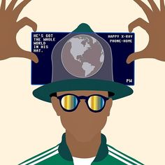 Avery Nejam for Earth Day #pharell #art #averynejam #thecandidobserver