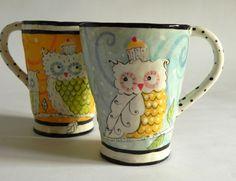Owl Mug. $29.00, via Etsy...cute, cute, cute!