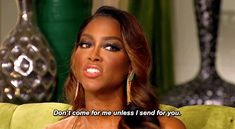 Throwing shade.... don't come for me unless I send for you...