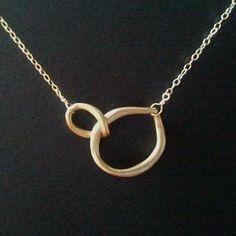 Eternity necklace, etsy.