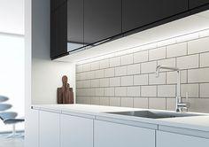 Fancy under kitchen cabinet lighting kitchens lights and cabinet sensios arrow slim profile sls led strip light under cabinet aloadofball Images