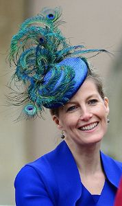 Today, January 20, 2014, Sophie, the Countess of Wessex celebrates her 49th birthday.  Picture posted on March 31, 2013 in Jane Taylor Hat  The Royal Hats Blog.......