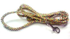 Rainbow Colored Handcrafted Paracord Dog Leash by 123CLG on Etsy