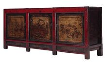 "Pine Origin-Gansu C.1850 91""w x 19""d x 36""h Antique One Of A Kind"