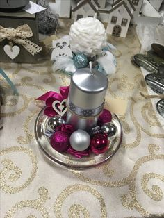 silver-pink decoration