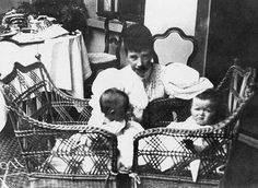 Dowager Empress Marie with grand daughters Grand Duchesses Tatiana and Olga