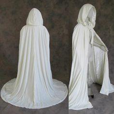 Renaissance Wedding, Renaissance Costume, Medieval Costume, Renaissance Clothing, Wedding Cape, Wedding Bride, Wedding Dresses, Witch Wedding, White Cloak
