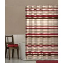 tan striped shower curtain. Walmart  Maytex Meridian Fabric Shower Curtain Red brown and tan I also like this shower curtain with the walls pretty bath