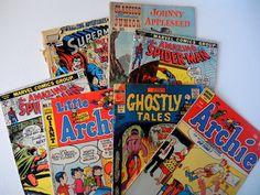 Vintage Comic Book Lot of 7 Spiderman Superman by injoytreasures, $20.00
