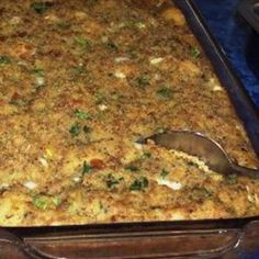 Southern Cornbread Dressing= FAVORITE Thanksgiving dish ever! Southern Cornbread Dressing= FAVORITE Thanksgiving dish ever! Stuffing Recipes, Cornbread Stuffing, Cornbread Recipes, Casserole Recipes, Buttermilk Cornbread, Stuffing Casserole, Stuffing Mix, Casserole Dishes, Thanksgiving