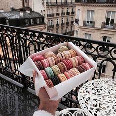 food, colors, and paris kép