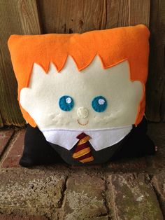 Cuddly Harry Potter Pillow Ron Weasley by MooSquares on Etsy