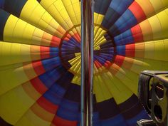 The view from inside the hot air balloon
