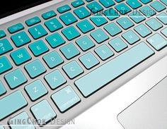 Mac keyboard cover Macbook keyboard sticker Seafoam by gingchok, $14.50