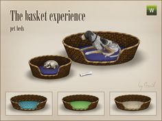 Gorgeous pet bets for Sims 3, they fit in every house style!