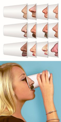 Pick your nose party mugs // these are a great conversation starter! #productdesign