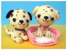 Dalmatian Puppy and Dog Bed -PDF Crochet Pattern
