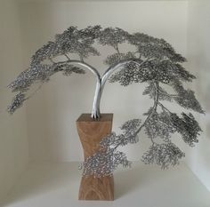 """Explore our internet site for even more relevant information on """"metal tree sculpture"""". It is an outstanding location to learn more. Jardin Decor, Copper Wire Art, Bonsai Wire, Wire Tree Sculpture, Wire Sculptures, Abstract Sculpture, Tableau Design, Metal Tree Wall Art, Wire Trees"""