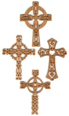 celtic cross scroll saw patterns free | SLDK132 - 8 Celtic and Gothic Cross Ornament Set 2