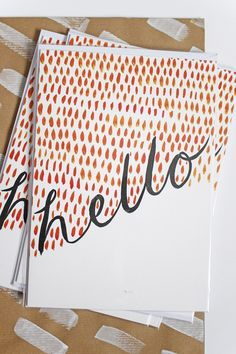 'Hello' Patterned Greetings Card | A5