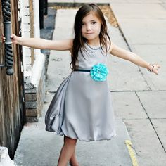 Girls Silver Bubble Dress by simplicitycouture on Etsy