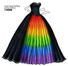 Masquerade Gown with Rainbow Underskirt Black Masquerade Gown with Rainbow Underskirt Cute Prom Dresses, Pretty Dresses, Beautiful Dresses, Wedding Dresses, Crazy Dresses, Pride Outfit, Rainbow Wedding Dress, Rainbow Dresses, Rainbow Clothes