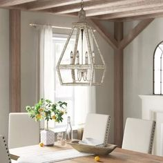 One Allium Way Andreana Candle Style Globe Chandelier Empire Chandelier, Lantern Chandelier, Wagon Wheel Chandelier, Lantern Pendant, Lanterns, Pendant Lights, Linear Chandelier, Traditional Furniture, Traditional House