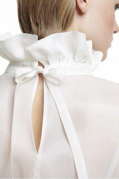 492dbcff487 Plakinger FW14 clothing tops blouses White White Silk organza blouse White  Fashion