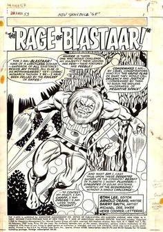 browsethestacks:Original Art - X-Men #053 (1969) Pg 01 by Barry Windsor-Smith