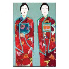 Red Geisha Canvas Art