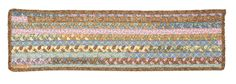 Olivera Rectangle Braided Cotton Blend Stair Tread, OV19 Dusty Shale