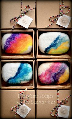 Sapontina felted soaps