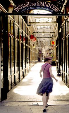 Passage du Grand Cerf, one of the beautiful 19th century covered passages in Paris, lined with shops.