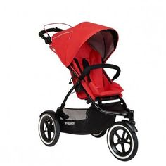 Phil & Teds Sport Buggy Double in Cherry - Double Stroller - 26 riding options to accommodate 1 or 2 newborn babies up to 2 toddlers. Canada's Baby Store