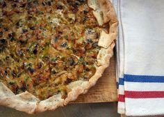 Tarta liviana de puerro y champiñones: Ponete el Delantal - Blog de cocina