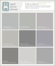 Nice selection of Gray Paint Colors: Opal Design Group by nita