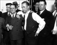"""John Dillinger (seen here) also operated during the Depression, mostly in Chicago and the surrounding area. Dillinger wasn't a part of the Mafia, though his """"Terror Gang"""" had many run-ins with other crime organizations. Michelle Phillips, Real Gangster, Mafia Gangster, Harry Dean Stanton, Robber Costume, Baby Face Nelson, Prison Escape, Einstein, Bank Robber"""