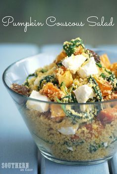 20 Awesome Salad Recipes Without Lettuce Roasted Pumpkin and Feta Couscous Salad – Gluten Free, Low Fat, Healthy Couscous Salad Recipes, Couscous Salat, Feta Salad, Couscous Healthy, Rice Salad, Vegetarian Recipes, Cooking Recipes, Healthy Recipes, Free Recipes