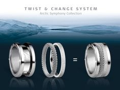 Create your own ring - create your own style! BERING jewellery; Arctic Symphony Collection; Twist & Change System