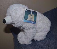"Kohls Cares For Kids White Polar Bear Stuffed Animal Plush 10""  #A #KohlsCares"