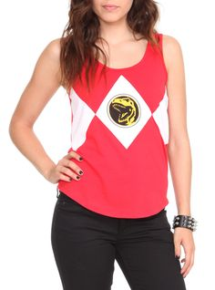 It's Morphin time! Suit up as the Red Ranger with this red tank top from Mighty Morphin Power Rangers.