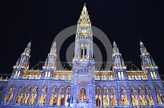 The town hall in Vienna, Austria. One of the most beautiful buildings in Vienna