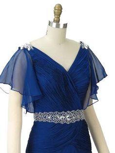 1930's style formal dresses | ... Style Blue Chiffon Elegant Gown-Bridesmaid Dress-Classy Prom Dresses