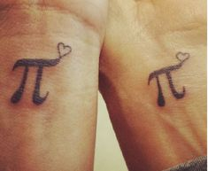 Mother Daughter Pi Tattoos
